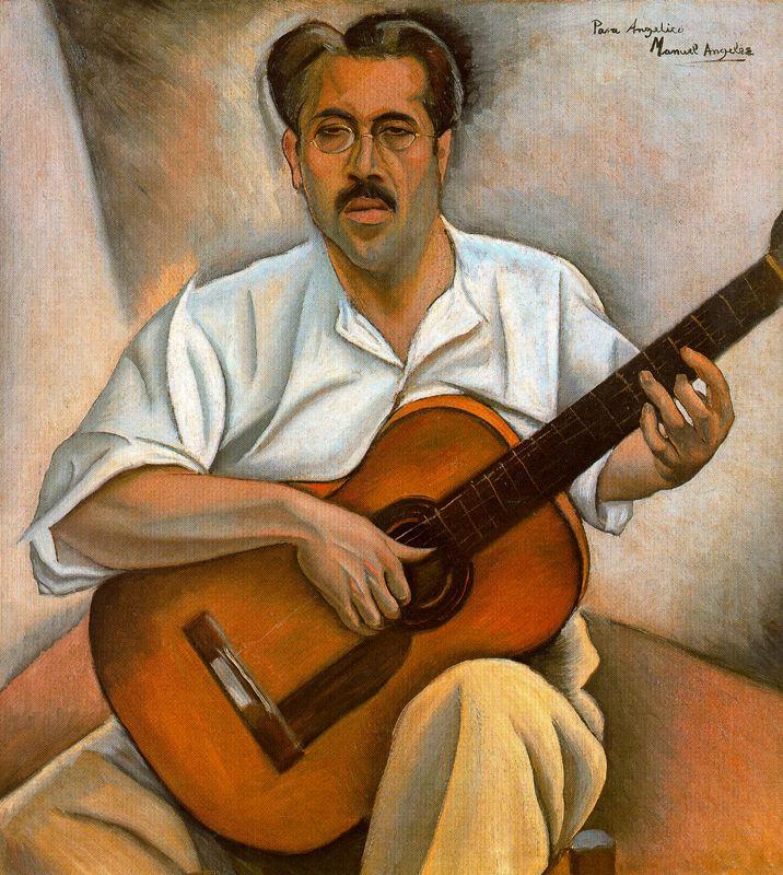 Мануэль Анджелес Ортис. С гитарой