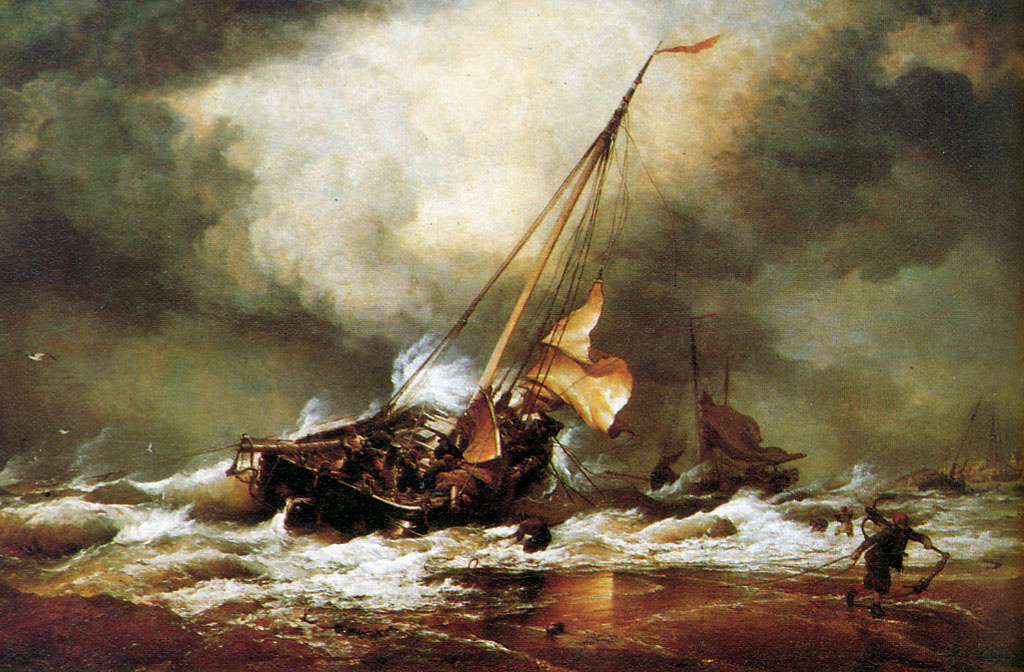 Эдвард Уильям Кук. Шторм в море