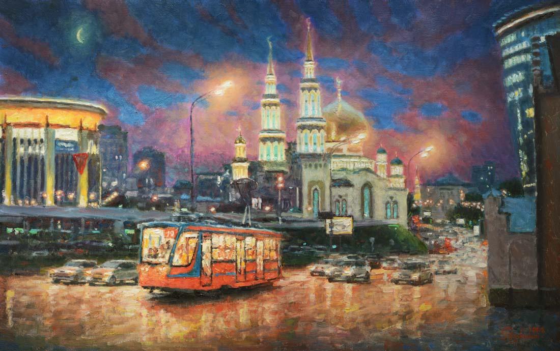 Igor Razzhivin. Moscow evening light