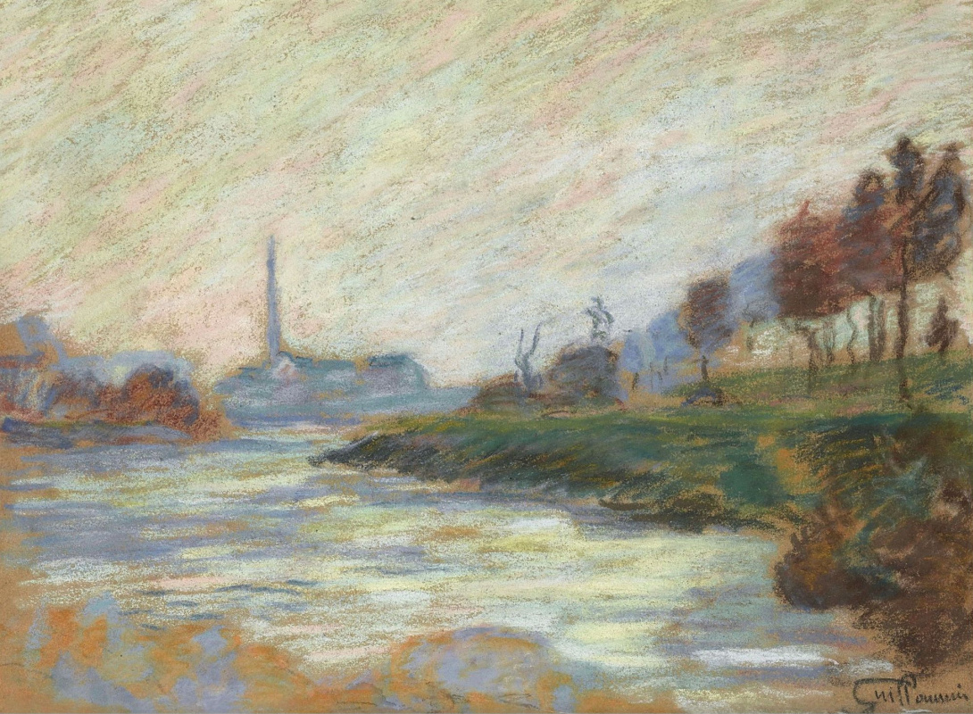 Armand Guillaumin. The confluence of the rivers Marne and Seine, Ile-de-France