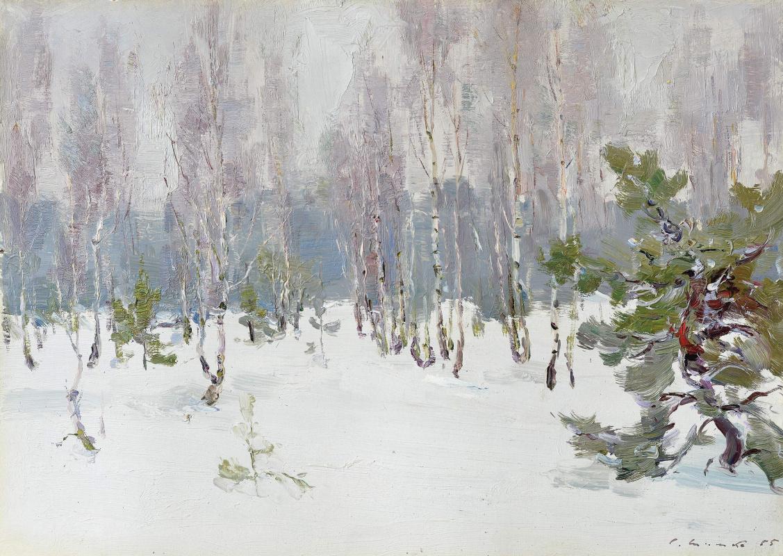 Сергей Федорович Шишко. Зимой в лесу