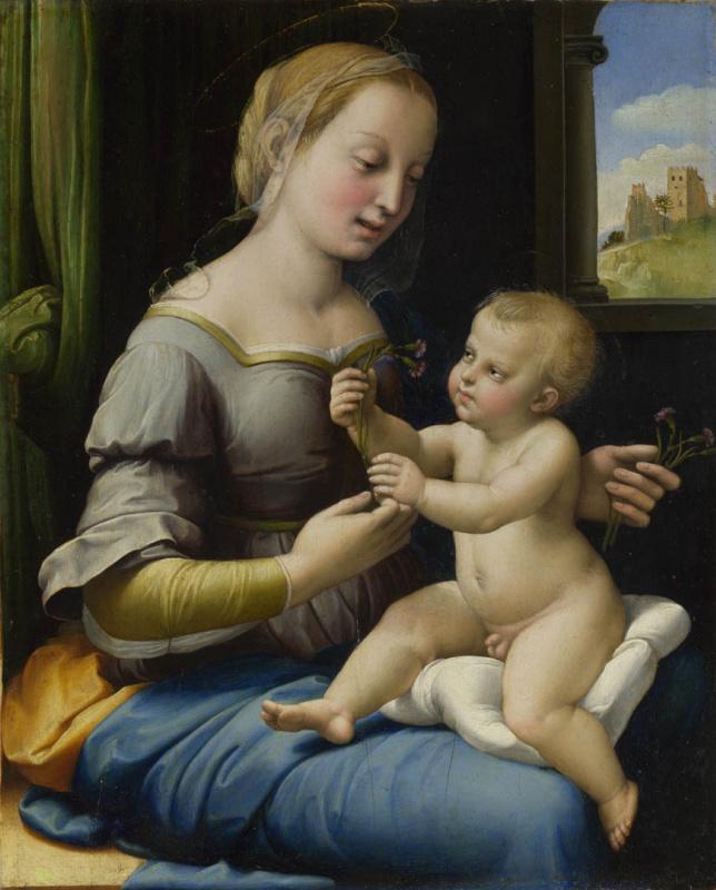 Raphael Sanzio. The Madonna of the carnation