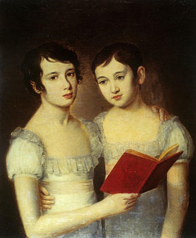 Портрет двух девочек