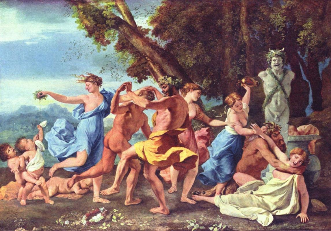 Nicolas Poussin. Bacchanal before a Herma of pan