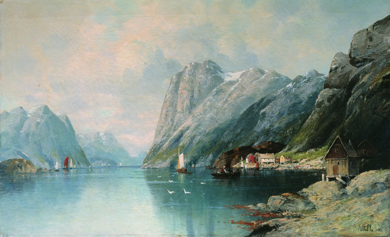 Lev Feliksovich Lagorio. The fjord in Norway