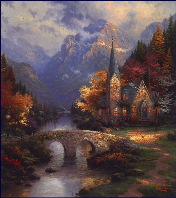 Thomas Kincaid. Mountain chapel