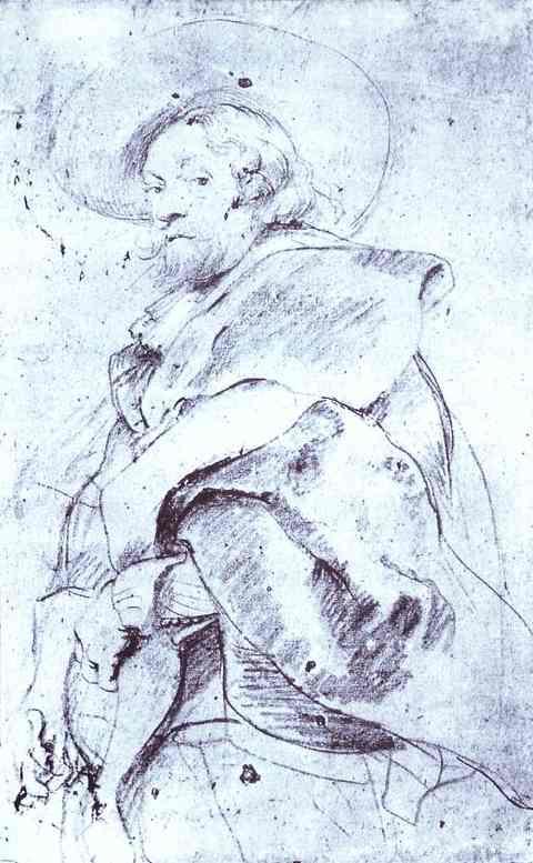 Питер Пауль Рубенс. Автопортрет Рубенса. Эскиз к картине