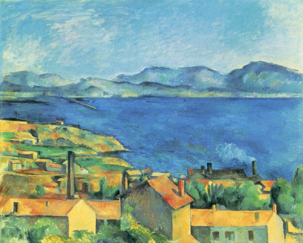 Paul Cezanne. The view of the Bay of Marseilles from l'Estaque