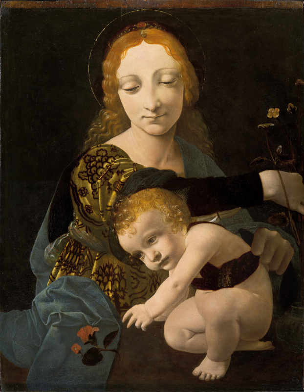 Giovanni Antonio Boltraffio. The virgin and child (Madonna of the Roses)