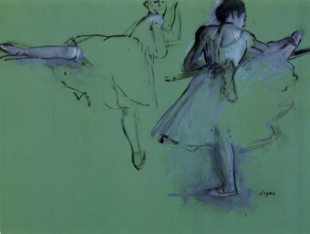 Эдгар Дега. Балерины у станка
