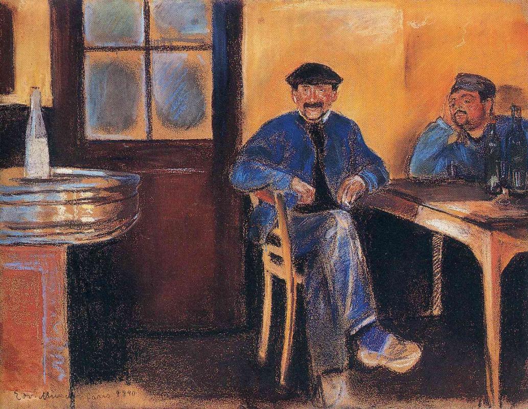 Edvard Munch. Tavern in St. cloud
