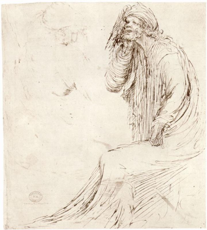Стефано да Верона. Сидящий пророк
