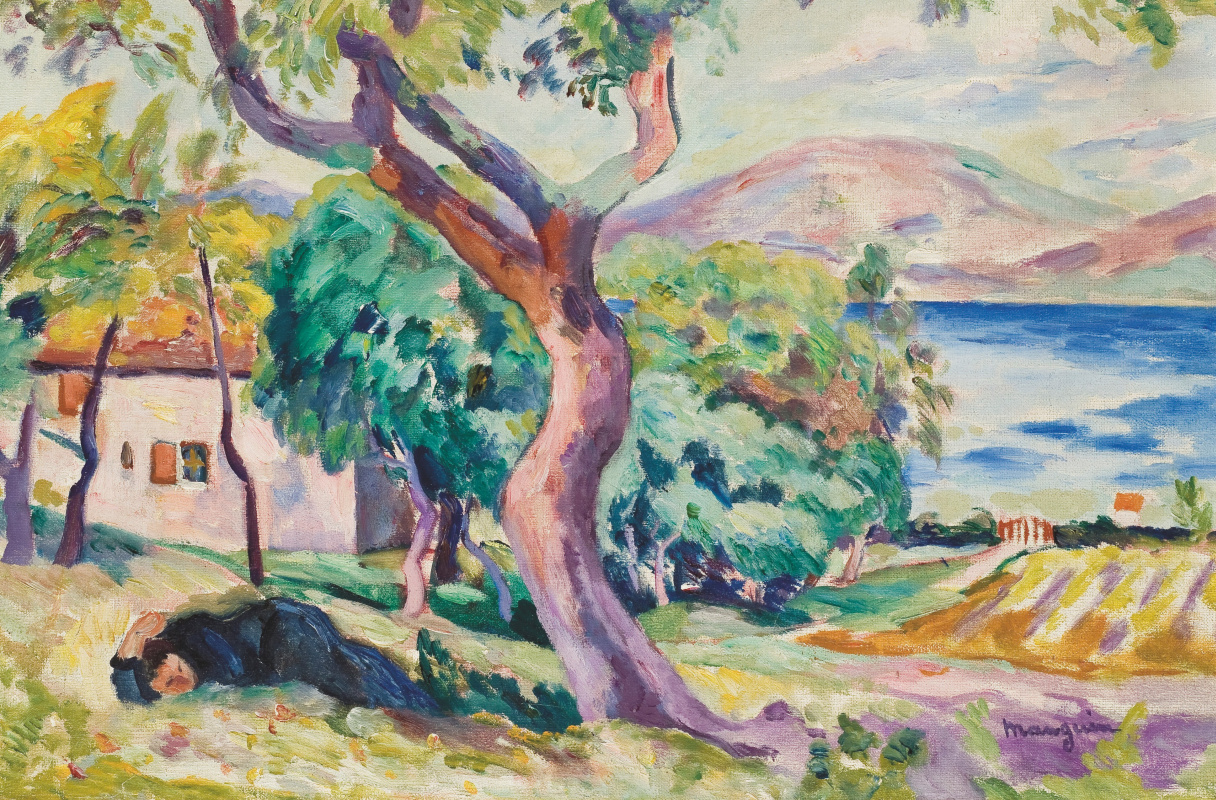 Henri Manguin. Farm in the Gulf of Saint-Tropez