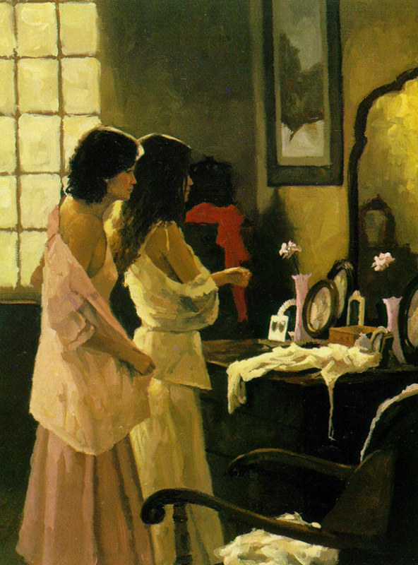 Эдвард Мартинес. Две девушки в комнате
