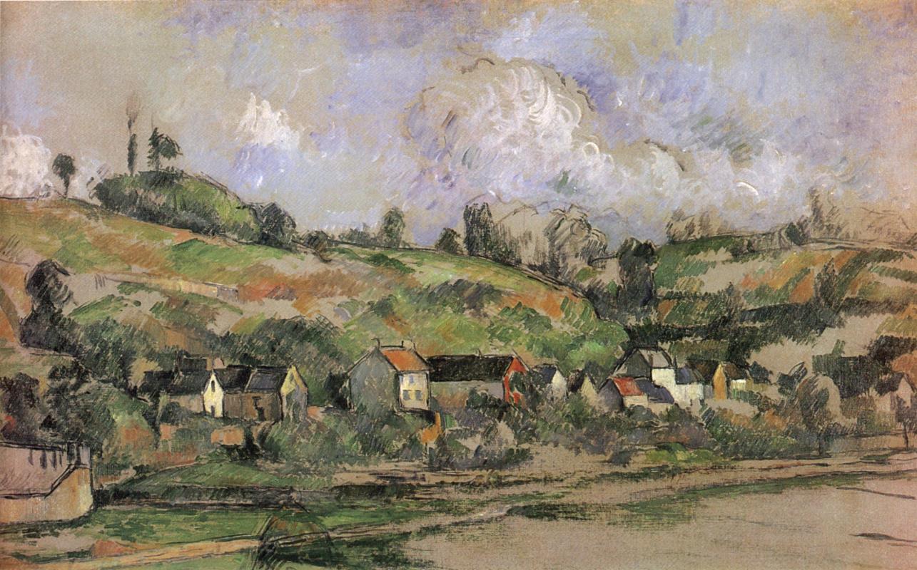 Paul Cezanne. Balerma village, Auvers-sur-Oise