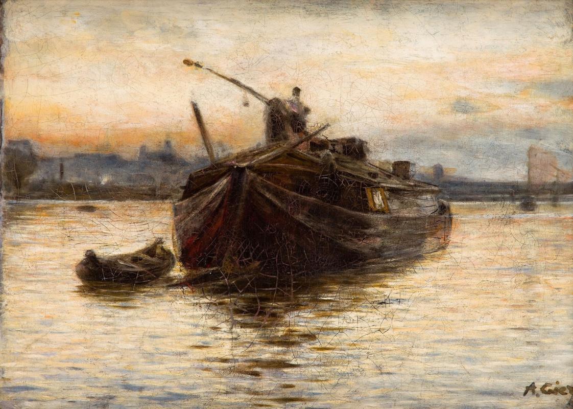 Alexander Gerymski. Barge on the Vistula