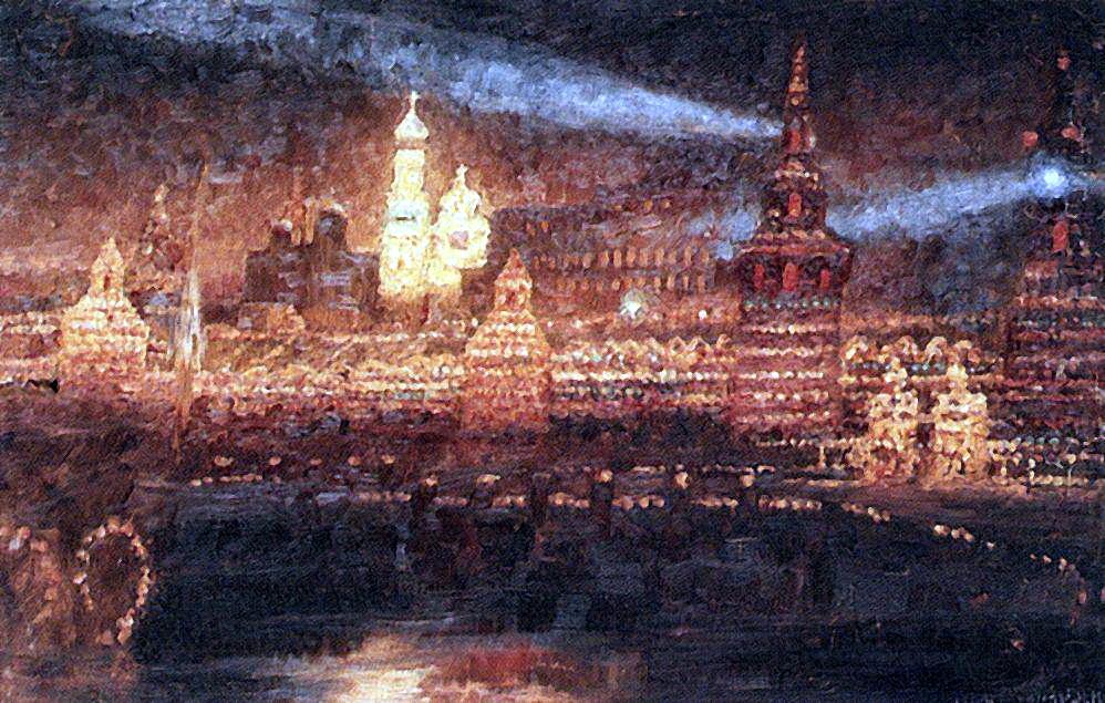 Vasily Ivanovich Surikov. Illumination Of Moscow