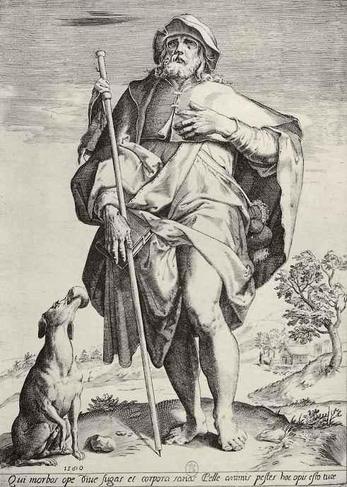 Агостино Карраччи. Святой Рох
