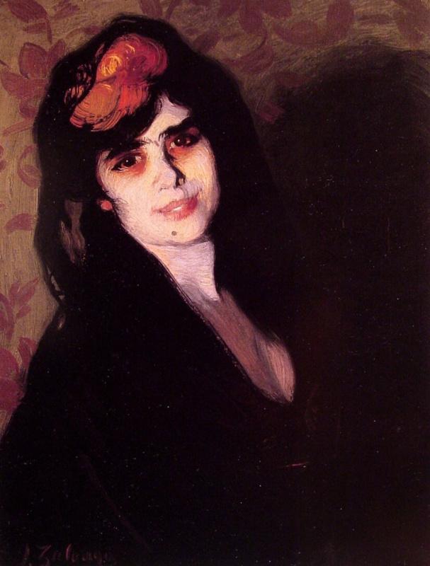 Игнасио Сулоага. Портрет молодой женщины