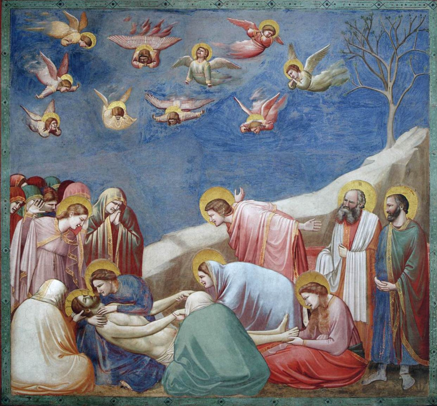 Giotto di Bondone. Lamentation of Christ. Scenes from the life of Christ