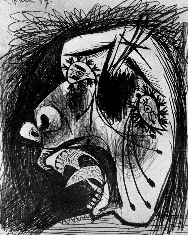 Пабло Пикассо. Голова плачущей женщины