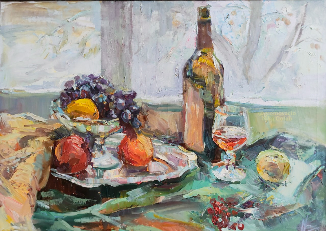 "Nika Golub. ""Still life with a tray"" / ""Still life with a tray"""
