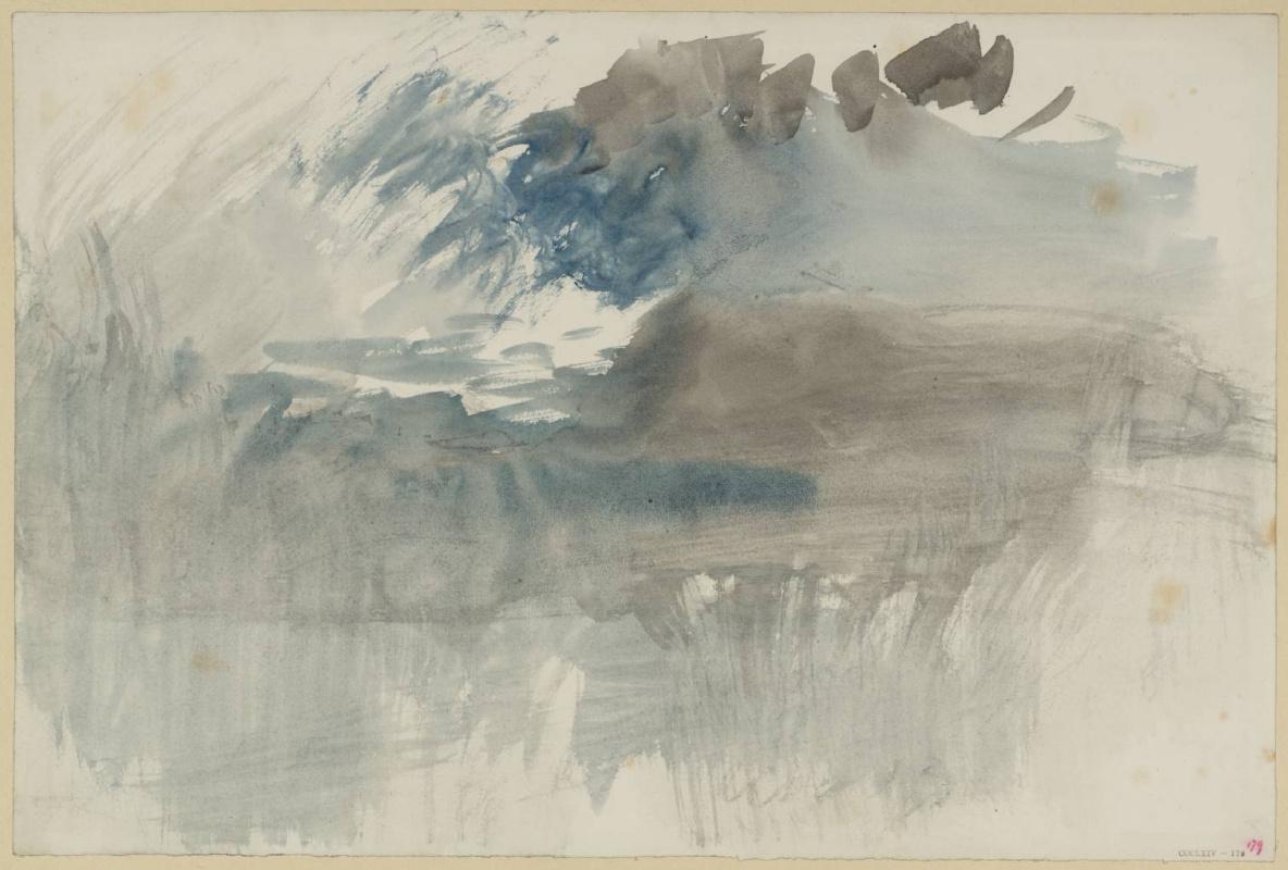 Joseph Mallord William Turner. Storm over the Rigi mountain