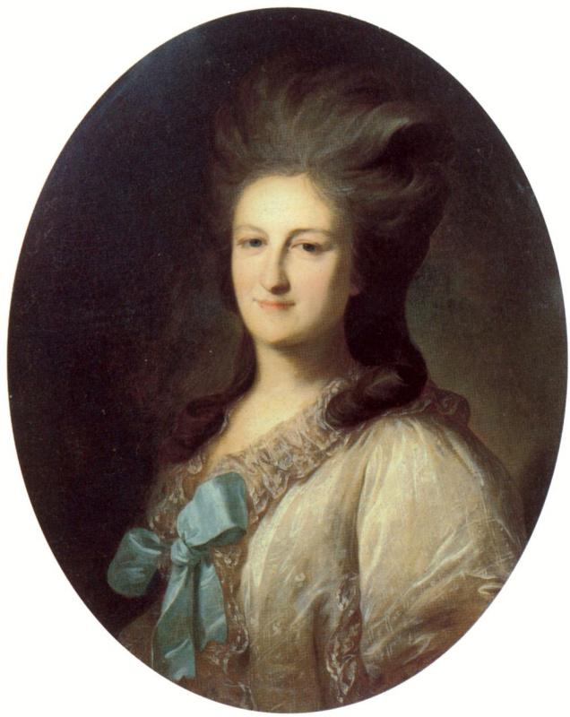 Fedor Stepanovich Rokotov. A Portrait Of Barbara Ermolaevna Novosiltseva