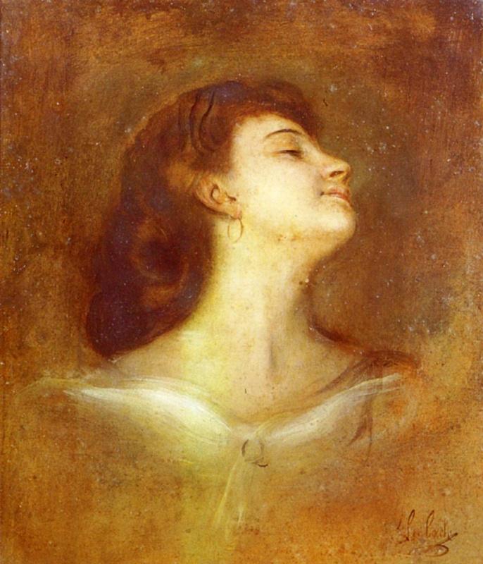 Франц фон Ленбаха. Портрет дамы в профиль