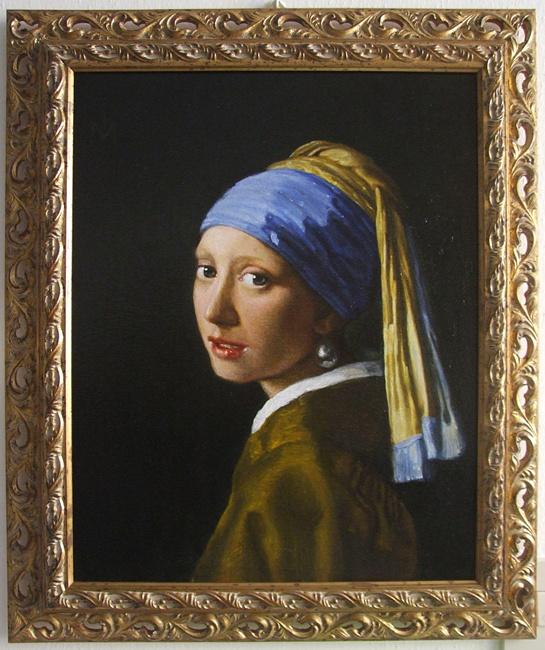 "Elena Sergheevna Akinina. Copy from Vermeer ""Portrait of a Girl in a Turban"""