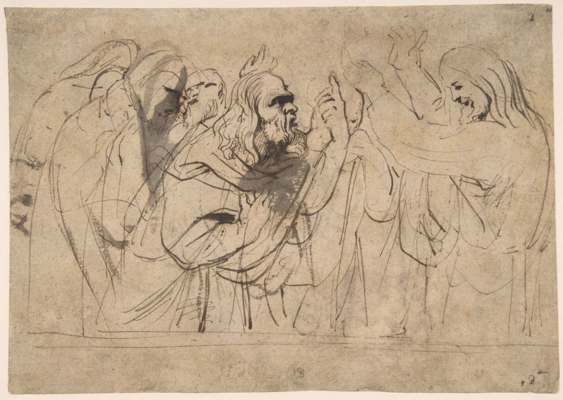 Anthony van Dyck. Christ and the Pharisees