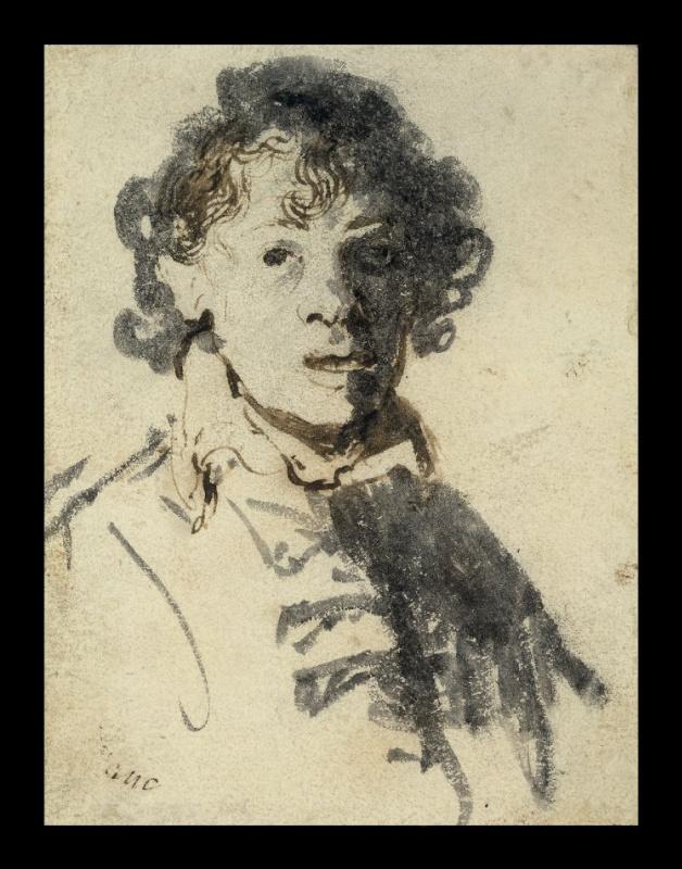 Рембрандт Харменс ван Рейн. Автопортрет с открытым ртом