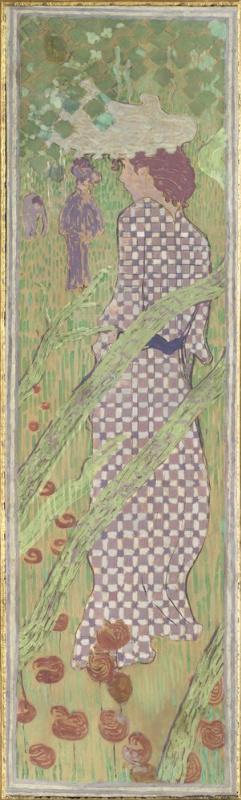 Пьер Боннар. «Женщина в клетчатом платье (серия «Женщины в саду»)»