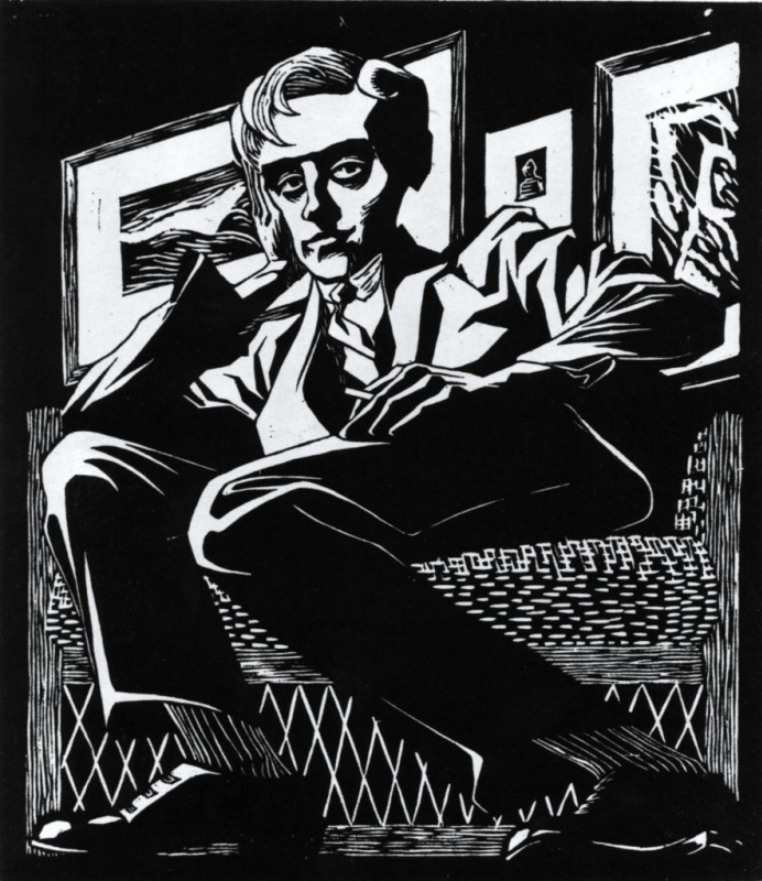 Maurits Cornelis Escher. Self-portrait in the chair