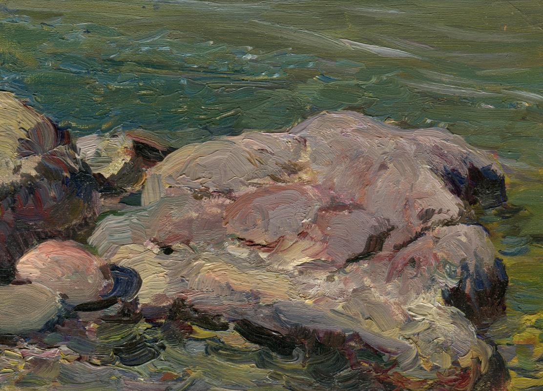 Vasily Fadeevich Demin. Etude of a stone
