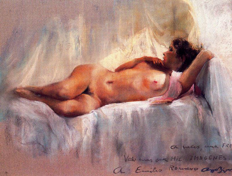 Cayetano de Archer Buigas. Reclining Nude