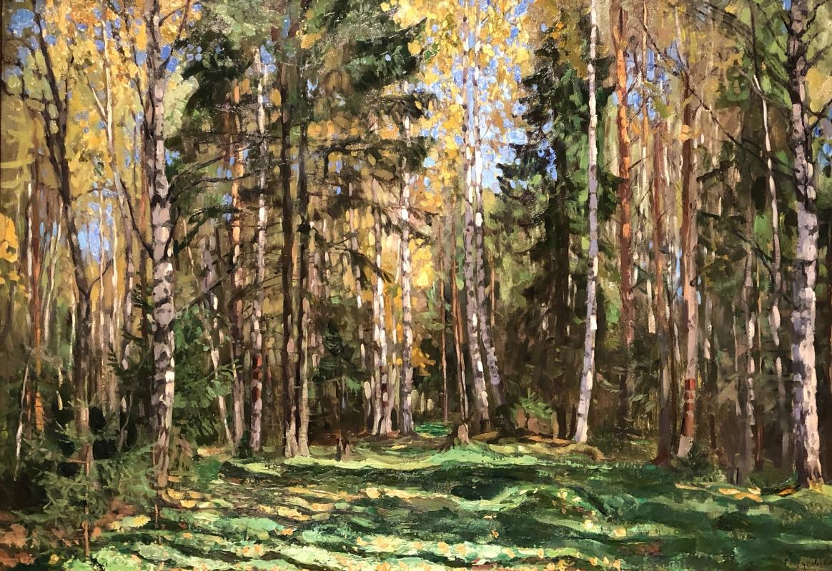 Stanislav Yulianovich Zhukovsky. Forest in autumn