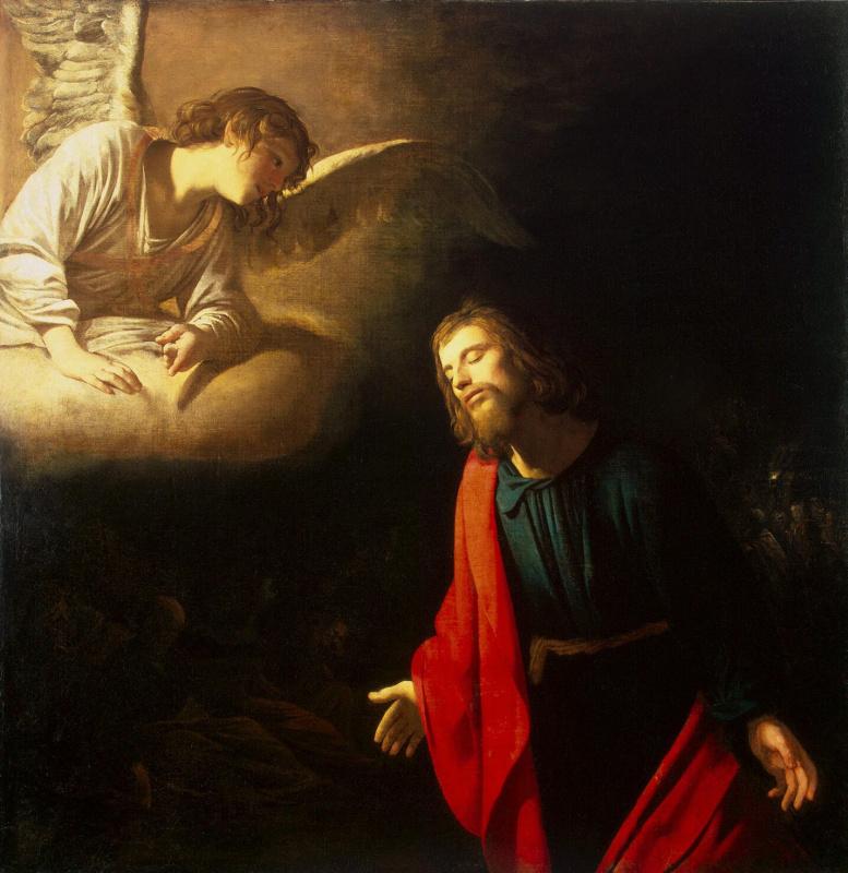 Gerard van Honthorst. Christ in the garden of Gethsemane