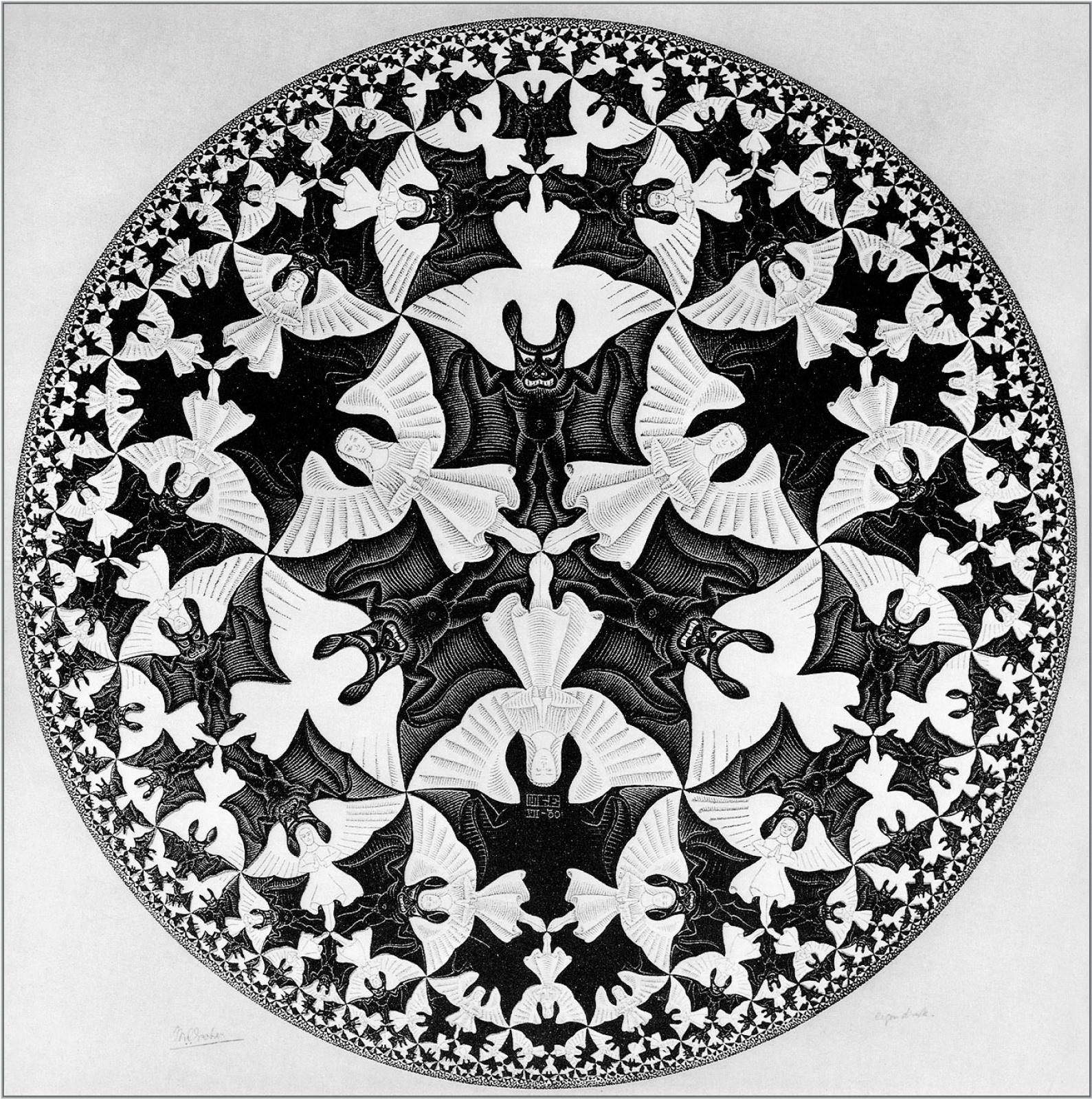 Мауриц Корнелис Эшер. Ограниченный круг1