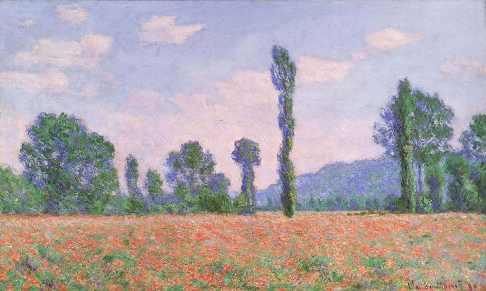 Claude Monet. Poppy field in Giverny