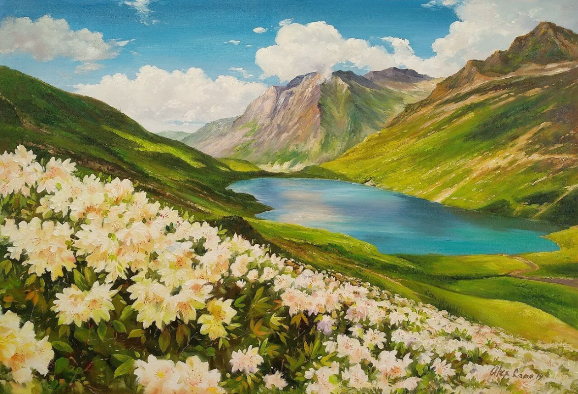 Alexander Romm. Flowers and mountains, mountains and flowers N5