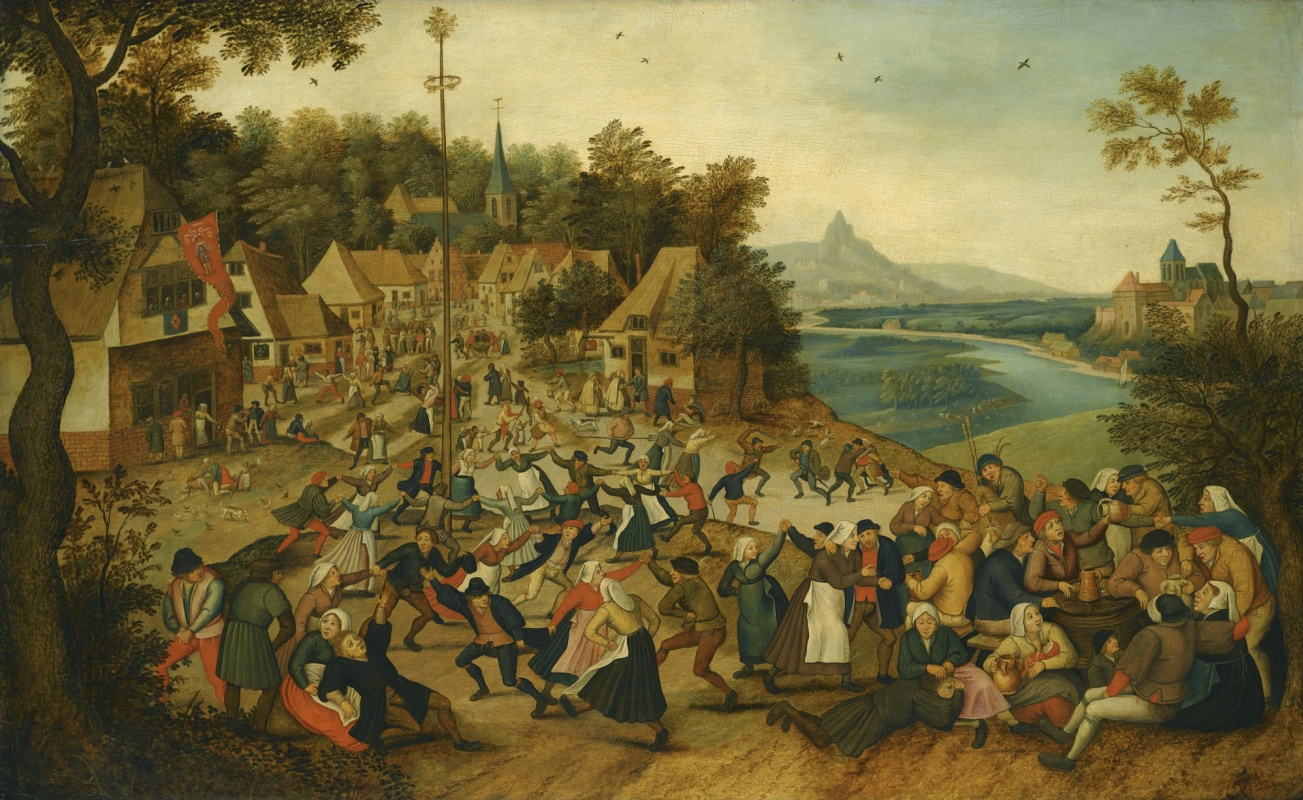 Peter Brueghel the Younger. Kermess of Saint George with the dance around the Mayol