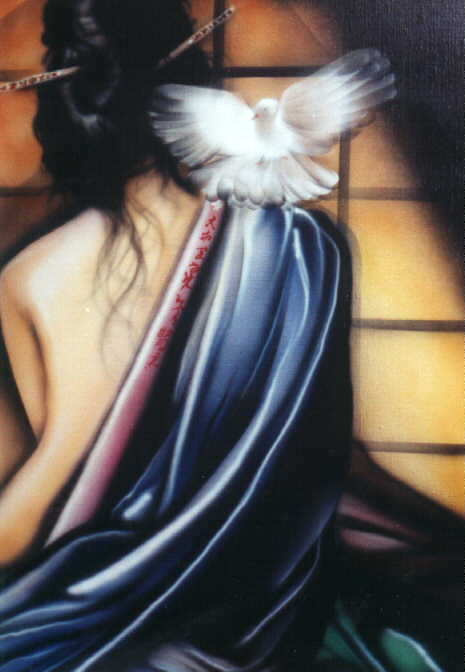 Алан Сагуез. Белый голубь на плече