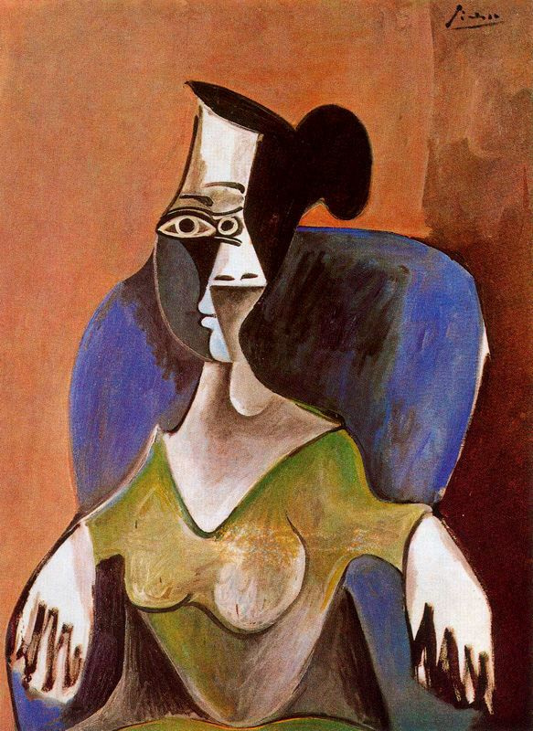 Пабло Пикассо. Женщина в кресле