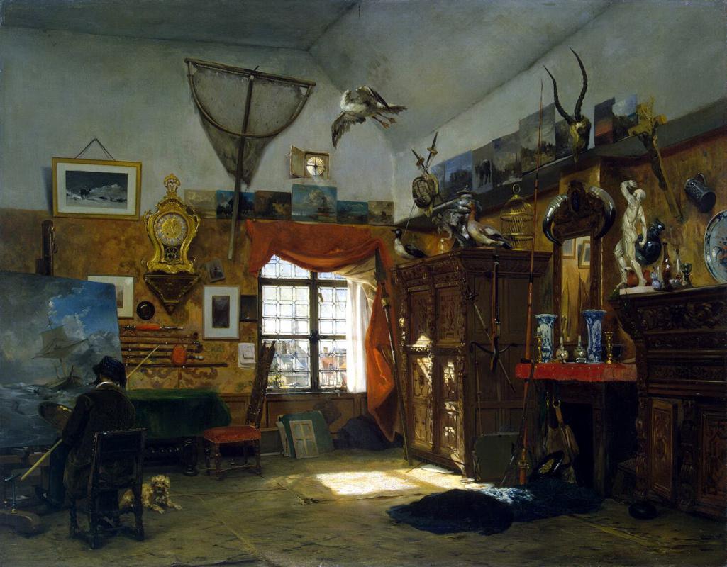 Жан-Батист ван Мур. Мастерская живописца