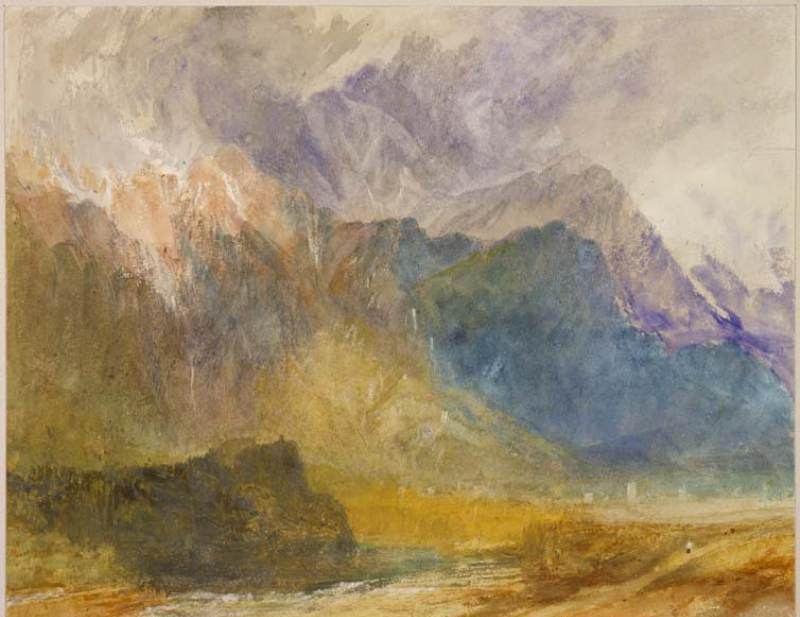Joseph Mallord William Turner. The Aosta valley, the view from Sarah in the direction Amavis