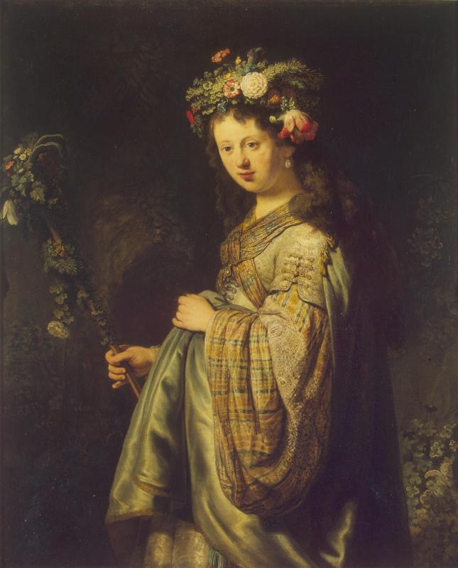 Rembrandt Harmenszoon van Rijn. Flora (Portrait Of Saskia)