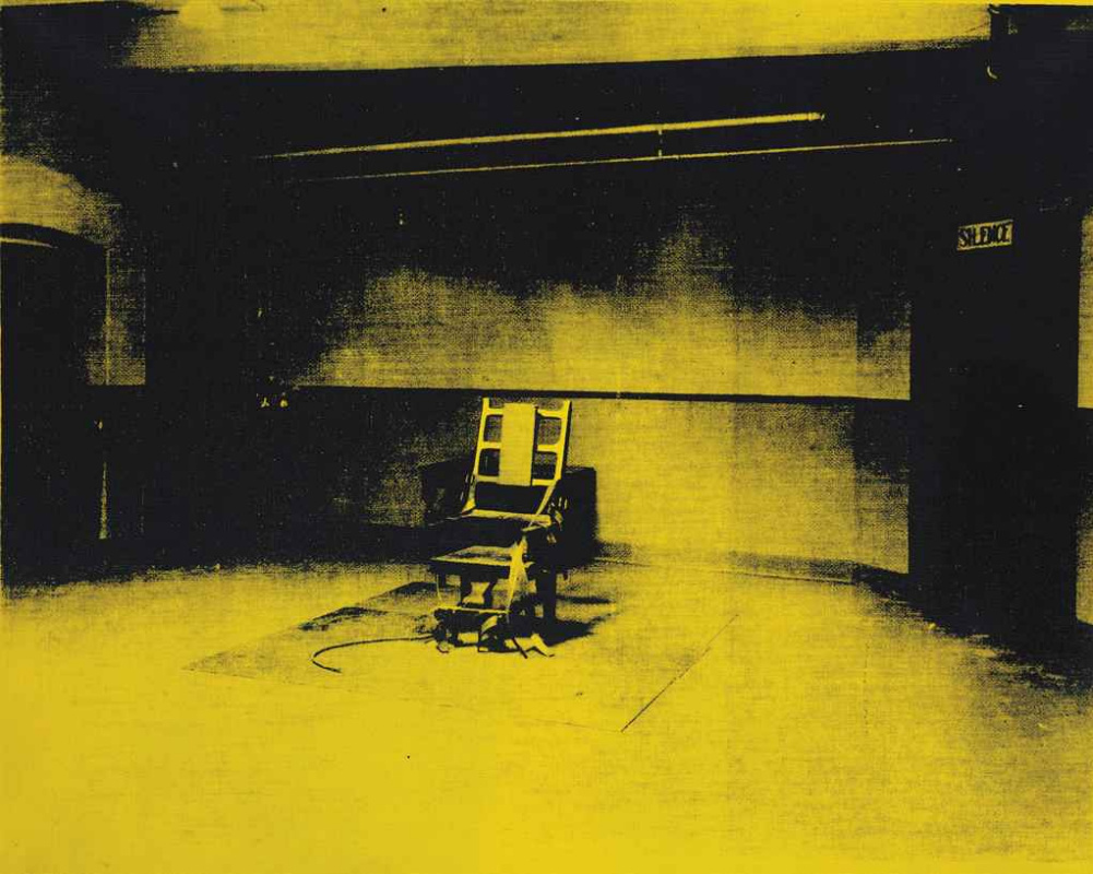 Andy Warhol. Little electric chair (yellow)