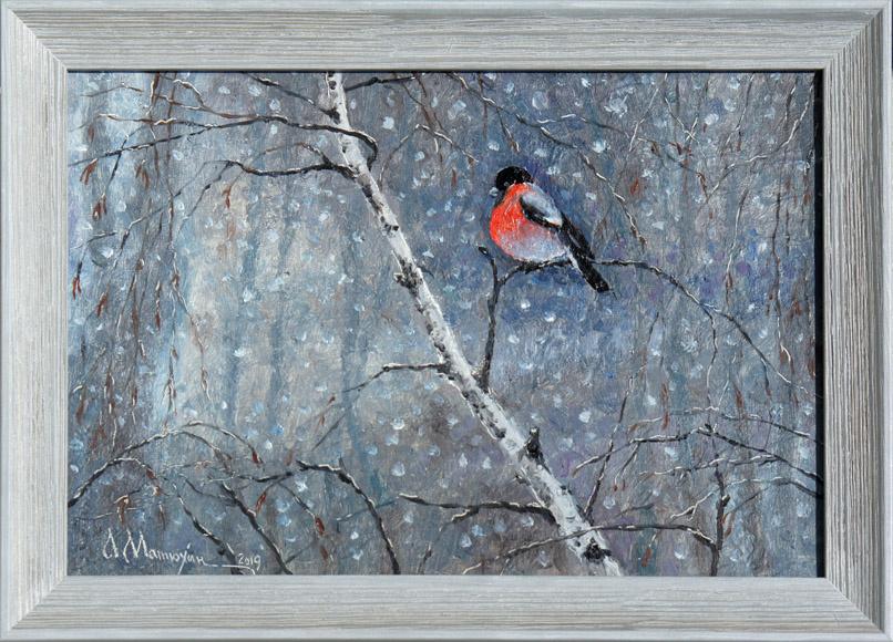 Alexander Matyukhin. Lonely bullfinch (20.2x30.2 cm)