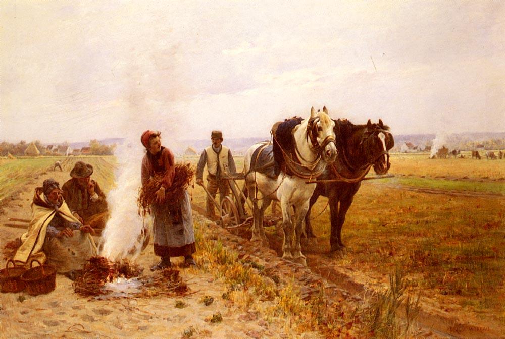 Adrian Moro. Plowing in the fields